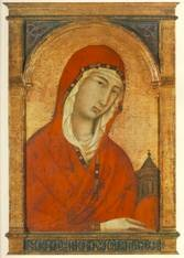 SEGNA DI BUONAVENTURE (doc. 1298, Siena, d. ca. 1331, Siena) St Magdalen - Wood, 44,2 x 29,1 cm Alte Pinakothek, Munich He worked in Siena and was a pupil of Duccio. He had a large workshop with many pupils. *** Keywords: ************* Au